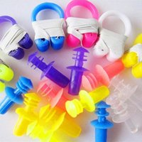Wholesale Soft Water Sport Swimming Swim Nose Clip x Ear Plug Set Colors Multicolor Protector Tool Brand new
