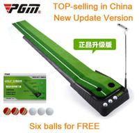 Wholesale PGM Indoor Golf Putter Trainer Practice Set Training Mat Just kg easy carried indoor golf putting green putting mats