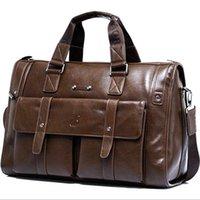 Wholesale 2016 Men Italian Real Leather Briefcase Business Shoulder Bag Messenger travel bag