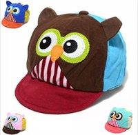 Wholesale Owl Hat Baby Kids Ball Caps Cotton Cartoon Cap For Infant Elastic Cap Sunhat Topee Children Caps