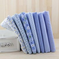 100 cotton fabric - 7pcs cm Blue Cotton Fabric for Sewing DIY Quilting fat quarter Tissue patchwork Textile Tilda Doll Cloth Fabric