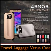 apple travel case - Travel Luggage Hybrid Dual Layered Armor Case TPU PC Double Protection Cover for iPhone SE S S Plus Samsung S6 Edge Plus Note