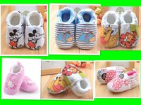 beetle cottons - Lovely Cartoon Mickey Winnie Pooh Donkey Beetle Kids Toddler Shoes Elastic Children Shoes Winter New Arrival Kids Velvet Shoes L0723