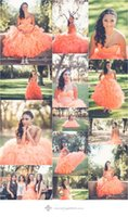 beautiful bones - 2015 Most Beautiful Coral Quinceanera Dresses Ruched Sweetheart Ruffles Puffy Princess Ball Gown With Sash Sweet Girl Pageant Dress Cheap