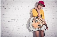 Wholesale Cool HUGE Luxury Tiger Head White Tiger Head style Bags D Knapsack Backpacks Animal Casual Daypacks for Travelling High quality