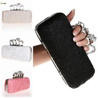 Wholesale Evening Bags Clutch Bags for Woman with Lace Crystal Luxury Formal Party Hand Bangs Sliver Wallets Bling Handbags Diamante Wedding Clutches