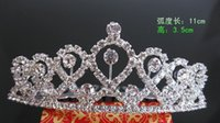 Wholesale Lovely New Design Sweet Rhinestone Wedding Crown Tiara Silver Plated Bridal Party Head Jewelry