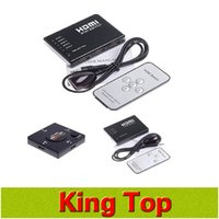Wholesale New HDMI Switcher port Port P HDMI Switch Remote Video Switcher Splitter Video Selector Hub for for HDTV P Vedio