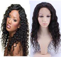 Mongolian virgin human Hair full lace wigs for black women - 2016 Human Hair Wigs with Natural Hairline Deep wave Full Lace Wigs Lace front wigs with Baby hair Beauty Wigs For Black Women