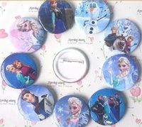 badge stock - In stock Frozen Cartoon Pin Badge cm Anna Elsa Princess Olaf Costume Cosplay Boys Girls Toy Fashion Badges