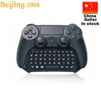 Wholesale 2016 New Mini Bluetooth Wireless Chatpad Message Keyboard for Sony Playstation PS4 Controller