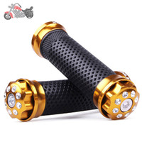 Wholesale Universal quot Handlebar for Motorcycle bar ends GOLD COLOR FOR ALL MOTORCYCLE grip moto dirt bike