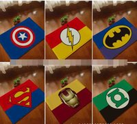 Wholesale Good quelity superman Batman Captain America Iron Man series mats Super soft cartoon bathroom carpet superman door mat