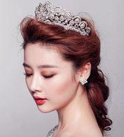 Cheap Cinderella Luxury Empire Princess Crystal Rhinestone Wedding Crown Wedding Veils Shiny Bridal Jewelry Tiaras And Hair Accessories
