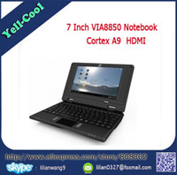 Cheap Wholesale-New Sale Cheap 7 inch VIA 8850 Mini Notebook Laptop Android 4.0 system 512M 4G Android Notebook laptop Webcam 800*480 Pixels