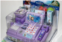 Wholesale 2016 NEW Voice glowing frozen Multi function cash register Play educational toys Elsa Anna girls gift Of genuine