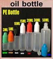 empty glass bottles - PE empty bottle ml ml glass bottles childproof cap for e cig plastic oil bottle e liquid glass dropper bottles FJ059