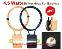 Wholesale smallest best quality A680 magnetic earbud mini micro invisible earpiece with gsm box neckloop for exam dhl