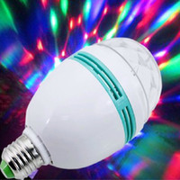 auto led light - 3W E27 RGB lighting Full Color LED Crystal Stage Light Auto Rotating Stage Effect DJ lamp mini Stage Light Bulb