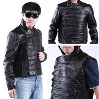 barnes leather - Fall Captain America Winter Soldier Bucky Barnes Cosplay Jacket Leather Costume