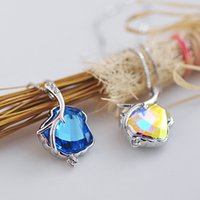 bay america - Factory Shell Bay Korean manufacturers crystal pendant pendant necklace short section of high end European and America