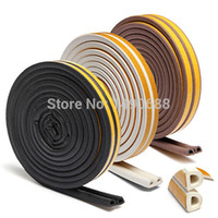 Wholesale 1pc5m Self Adhesive D Type Doors and for Windows Foam Seal Strip Soundproofing Collision Avoidance Rubber Seal Collision
