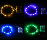 mini christmas lights - NEW M M M M M LED String Mini Fairy Lights XAA Battery Operated White Warm White Blue Yellow Green Purple Pink Christmas Lights