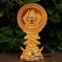 Wholesale Margin Cheung Yiwu Golden Buddha Ssangyong seat quasi mention exquisite golden mirror Tantric Buddhist supplies