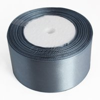 Wholesale 1 Roll Yards quot mm Dark Silver Gray Grey Satin Ribbon Sash Bow Craft Wedding Banquet Decoration Favor