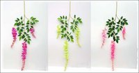 Photo Booth Props beautiful photos animals - 2015 New Simulation Artificial Silk Flowers Beautiful Wisteria Flowers Vine Birthday Christmas Ornaments For Party Wedding Decoration
