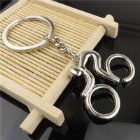 Cheap New Best Promotion Key chain Sport man Metal bicycle keychain key ring holder Keyfob bike key chain HIgh Quality
