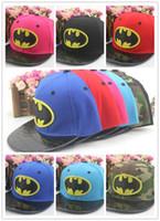 baseball bats children - High quality Children Canvas baseball cap Korean new Multicolor Bat pattern cap fashion hip hop cap Adjustable size