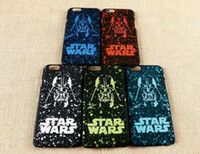 Wholesale Trader Star Wars Hard Scrub Feel Plastic Case for iphone S I6S plus S Super Stormtrooper Personality PhoneMagic Snow pc Cover Skin