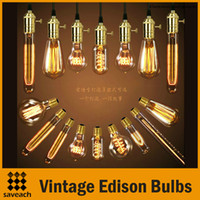 Cheap 2015 New - Fashion Incandescent Vintage Light Bulb Edison Bulb  Fixture E27 Bulbs 110V 220V