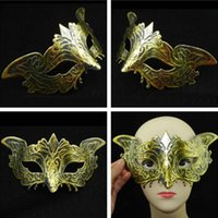 Wholesale Monster half face mask fox retro dance party mask Halloween mask mask masquerade mask JIA100