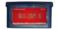 21in1 multi_games carro / nave libre / para la consola real de GBA y la consola de WOODISP ambos / todos los juegos son juegos verdaderos del gba