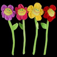 Wholesale Lovely Smile Sunflower Plush Curtain Clasps Tie Holders Home Decoration