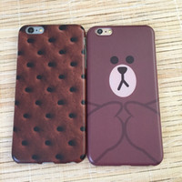 apple biscuits - Biscuit and Little Bear phone case for iPhone S Plus SPlus cover for iPhone TPU