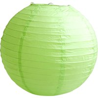 Wholesale Apple Green LED ballon Paper Lanterns Wedding Party Paper Lanterns Light Holiday Decoration inches Multi colo