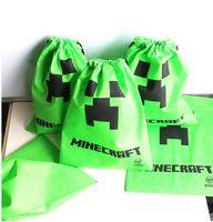 Wholesale AAAA quality New creative Minecraft Creeper Storage packet Minecraft bags Storage bags environmental Minecraft Creeper LJJD526