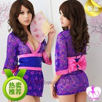 lingerie japan - Japan women s sexy lingerie sexy lace kimono dress game uniforms temptation perspective skirt suit pajamas