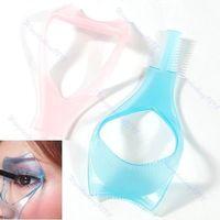 Wholesale 10 X New in Plastic Lady Makeup Party Mascara Applicator Guard Eyelash Brush Curler Guide Lash Comb Cosmetic Makeup Tool