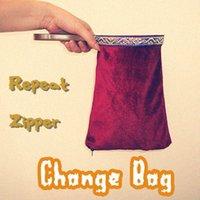 Wholesale repeat zipper change bag red middle magic trick bag magic props comedy close up magic