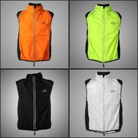 Wholesale Tour de France Cycling Sports Men Riding Breathable Reflective Bike Bicycle Cycle Clothing Wind Vest Sleeveless Jacket Colors