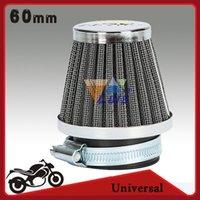 Wholesale 60mm Universal Motorcycle Motor Air Filter Cleaner with Clamp for Kawasaki Honda Suzuki Yamaha Pit Dirt Bike ATV Scooter order lt no track