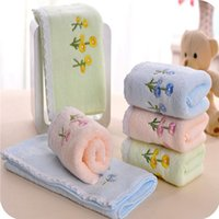 Wholesale cotton towel washcloth waste absorbing soft lovers design towel Lace flower children small towel WB3
