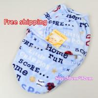 Wholesale Hot newborn blanket swaddling cotton cartoon baby products spring summer autumn newborn baby sleeping bags months