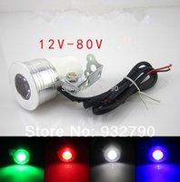 Wholesale New Motorcycle Car Truck Van bicycles boat Off Road V V V V v LED CREE Day Light lamp White red blue green Universal order lt no t