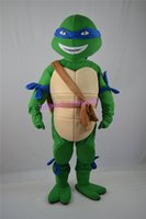Wholesale The most popular Christmas Halloween Ninja Turtles costumes for Halloween party supplies adult size mascot