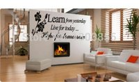 Wholesale Learn from Yesterday Family Love Art Wall Quotes Wall Stickers Wall Decals